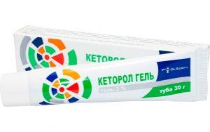 Местноанестезирующие средства димексид в составе Кеторол гель